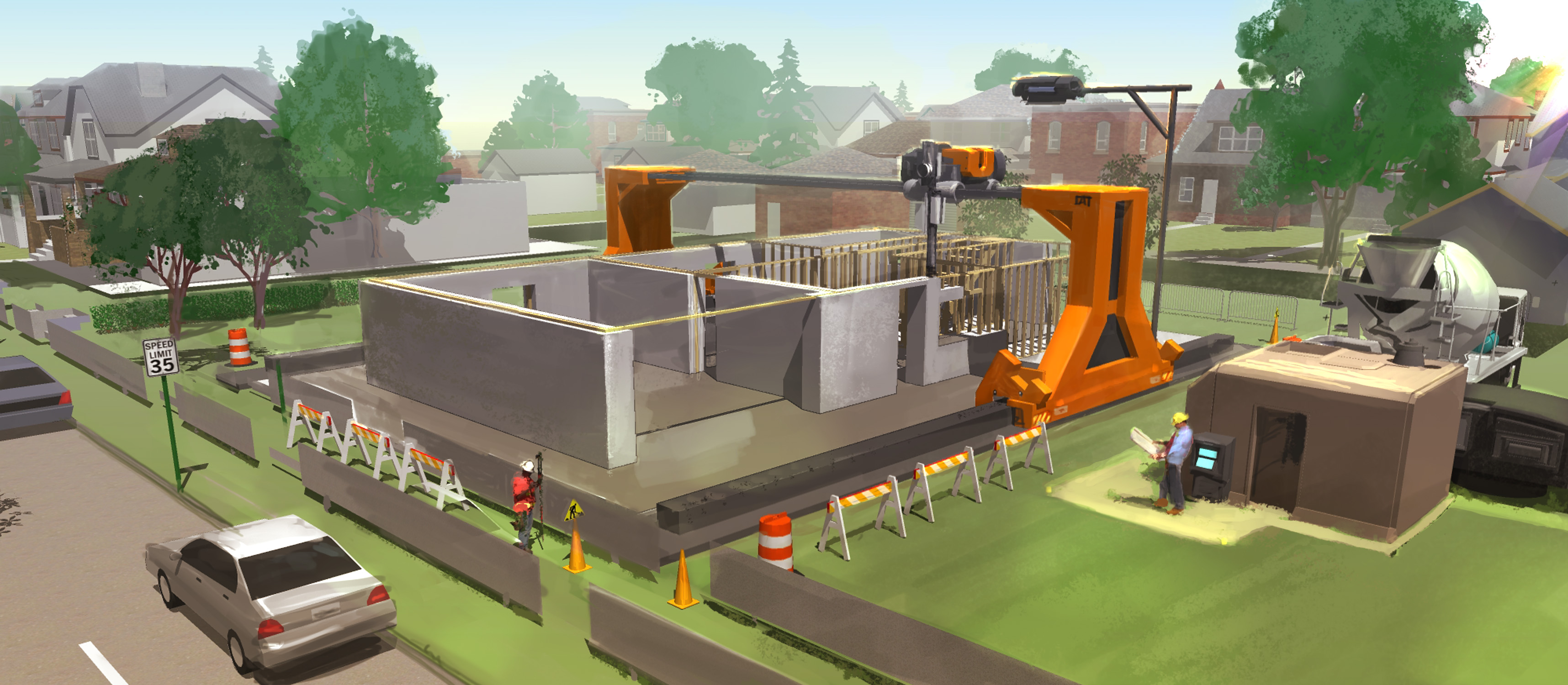 Cool Machines 3d Printing Machines Set To Revolutionise Construction Iseekplant